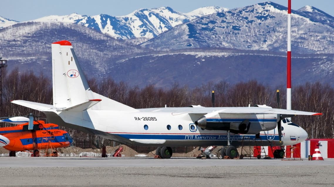 Russian An-26 plane with the tail number RA-26085 is seen in Petropavlovsk-Kamchatsky, Russia in this undated handout image released by Russia's Emergencies Ministry on July 6, 2021. (Reuters)