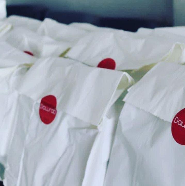 Menstruation kits distributed by Dawrati in Lebanon. (Instagram)