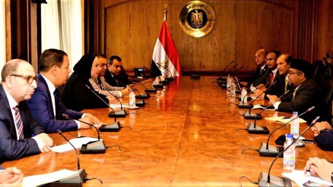 وزيرة التجارة المصرية وزير السلع الماليزي
