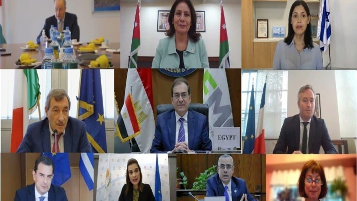 الوزراء المشاركين فى الاجتماع الوزاري الخامس لمنتدى غاز شرق المتوسط