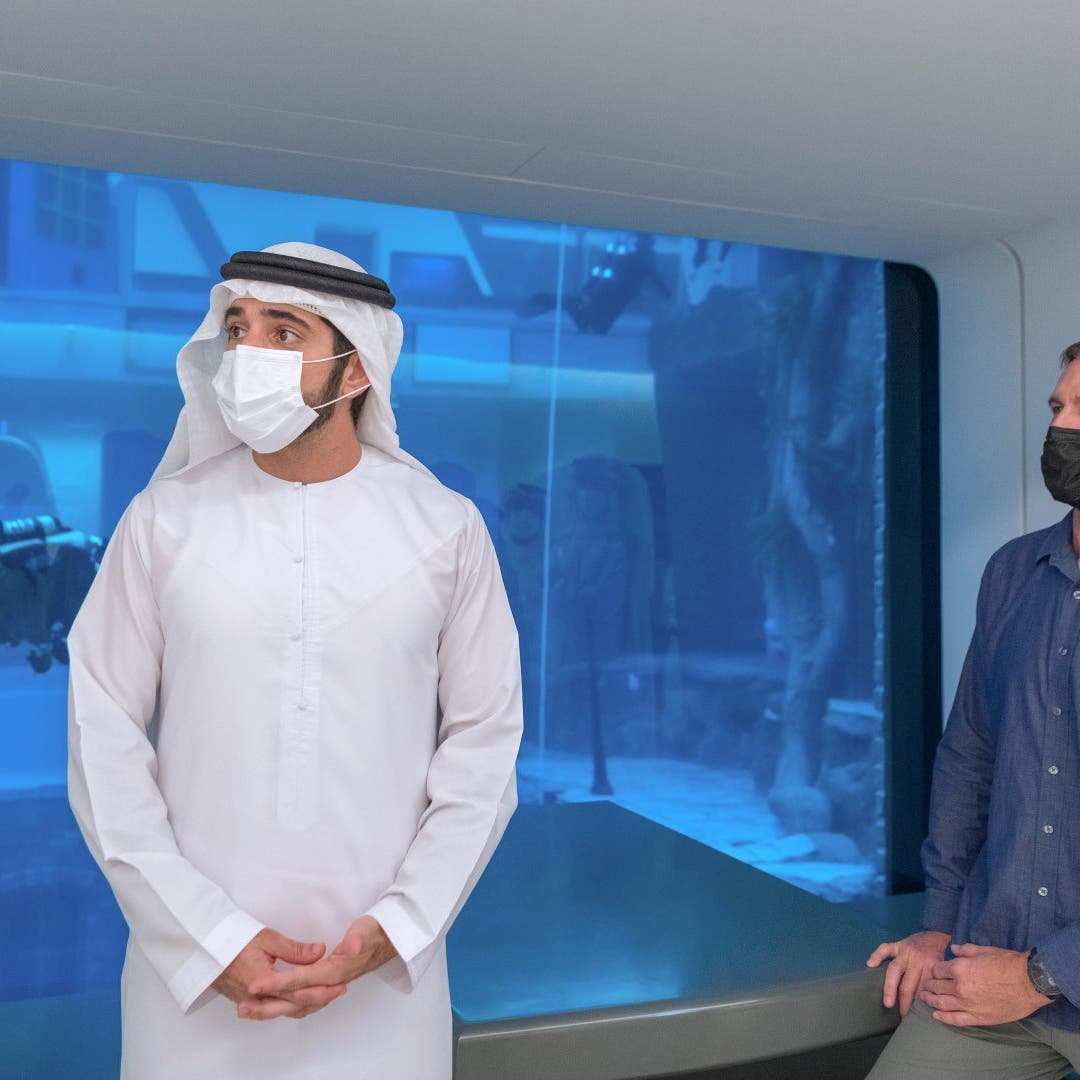 World's deepest diving pool opens in Dubai with 'sunken city,' football table