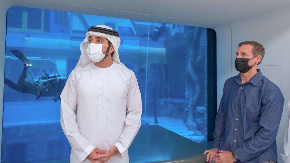 Sheikh Hamdan al-Maktoum officially opens Deep Dive Dubai. (WAM)