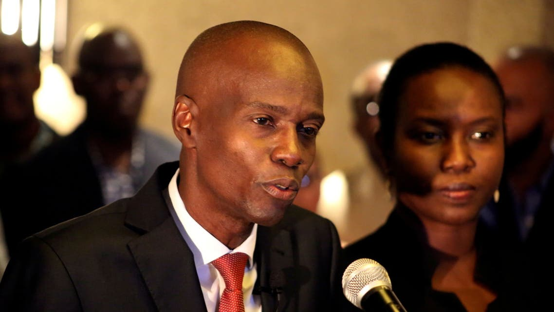 Jovenel Moise addresses the media next to his wife Martine after winning the 2016 presidential election, in Port-au-Prince, Haiti. Picture taken November 28, 2016. (File photo: Reuters)