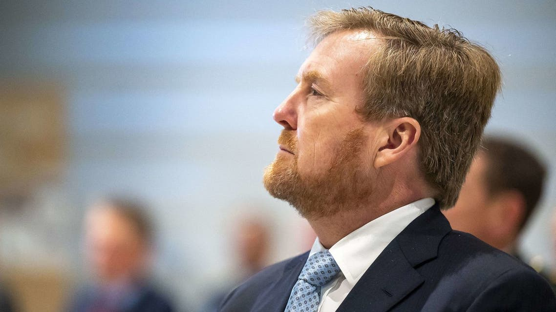 King Willem-Alexander is seen in the memorial and education center of the National Veterans Cemetery, on November 26, 2020 in Loenen. (File photo: AFP)