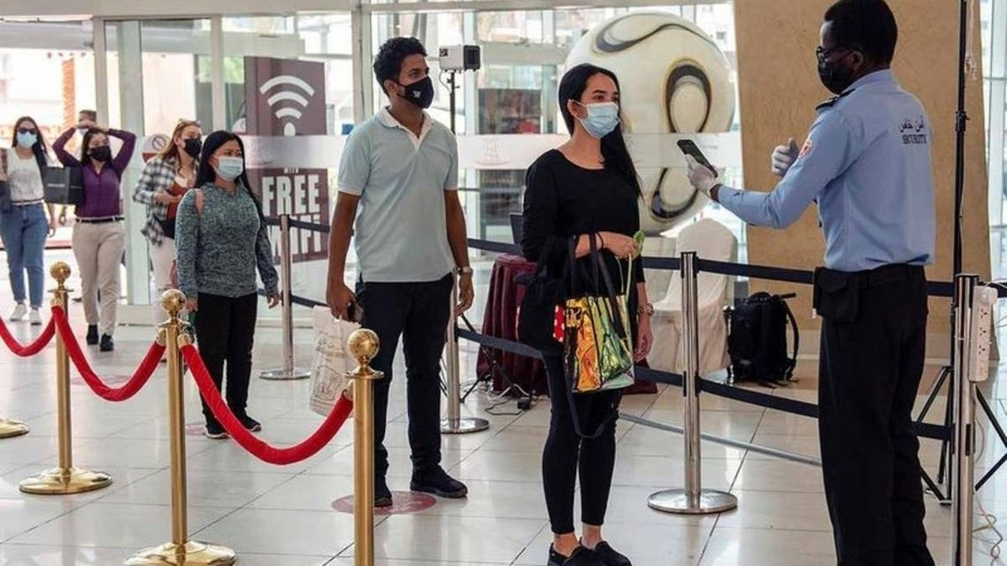 The Department of Health of Abu Dhabi recently introduced a new COVID-19 screening method in shopping malls, some residential areas and at all land and air entry points. (Photo credit: Twitter)