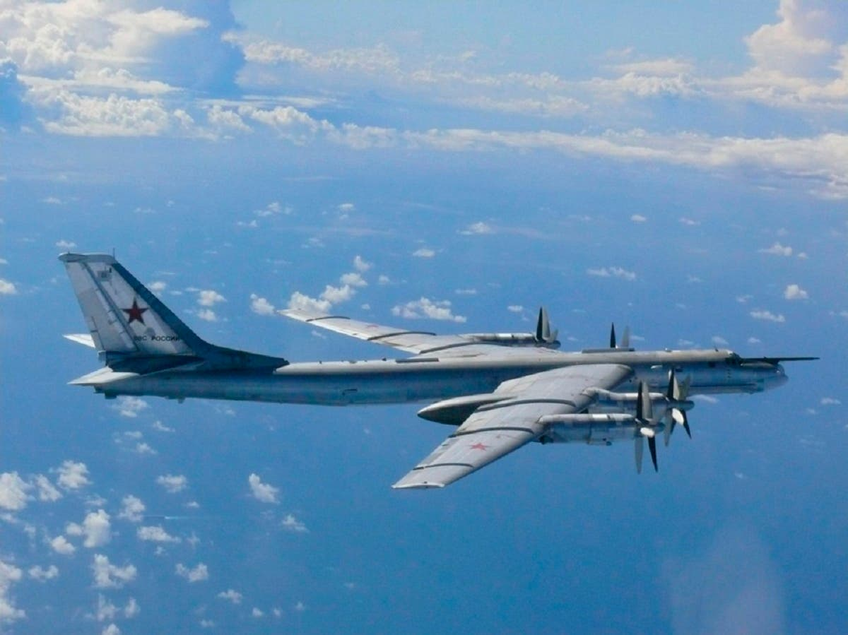 A Russian TU-95 bomber flies through airspace northwest of Okinoshima island, Fukuoka prefecture in the southern island of Kyushu. (File photo: Reuters)