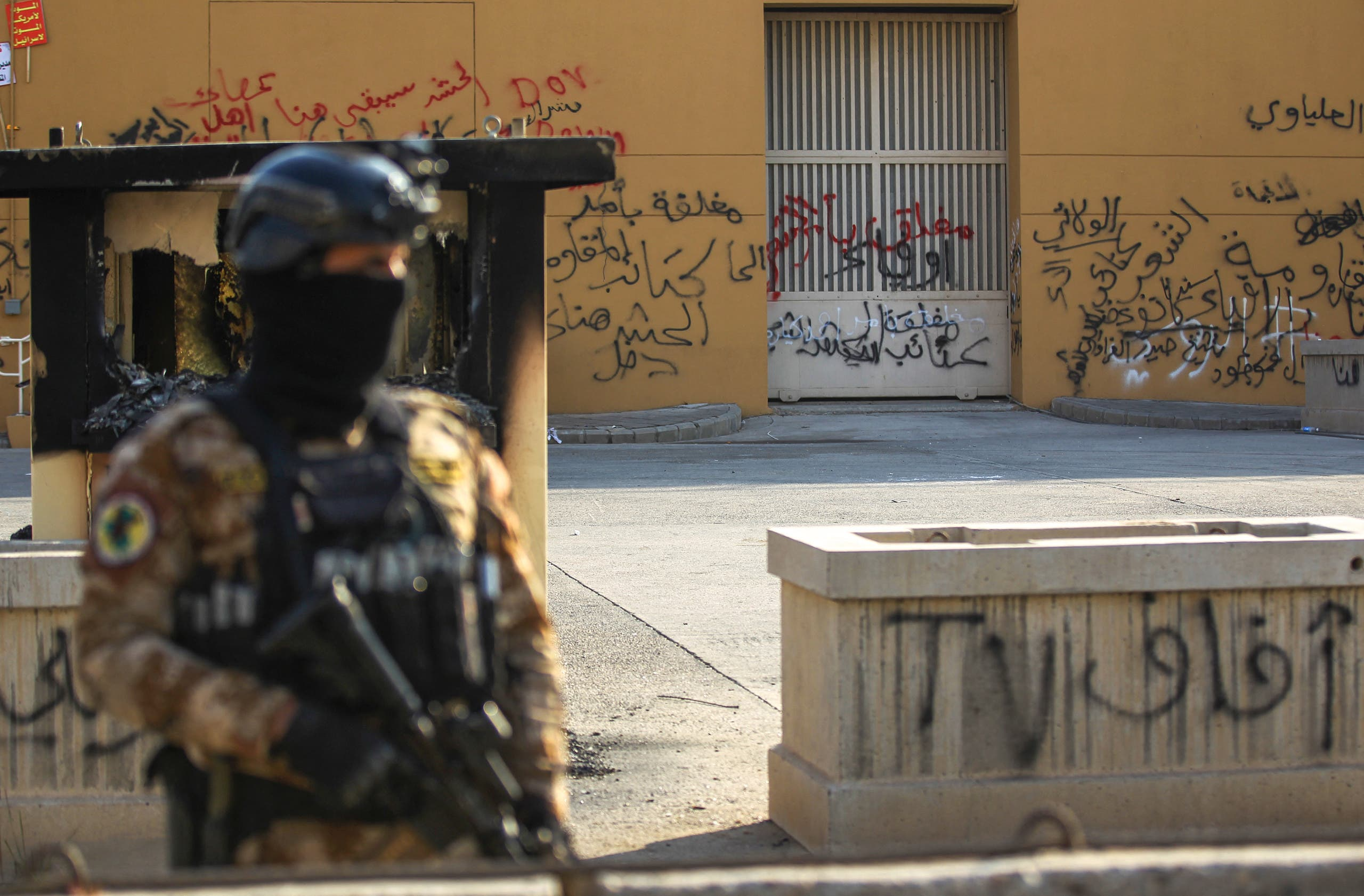 من محيط السفارة الأميركية في بغداد (أرشيفية- فرانس برس)