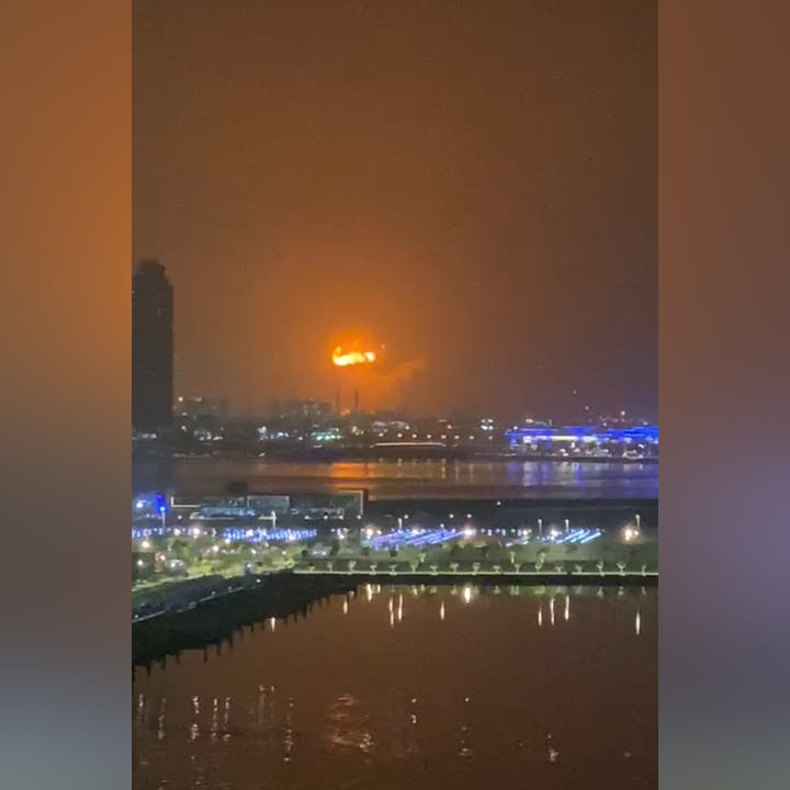 Explosion, fire off container ship docked at Dubai's Jebel Ali port