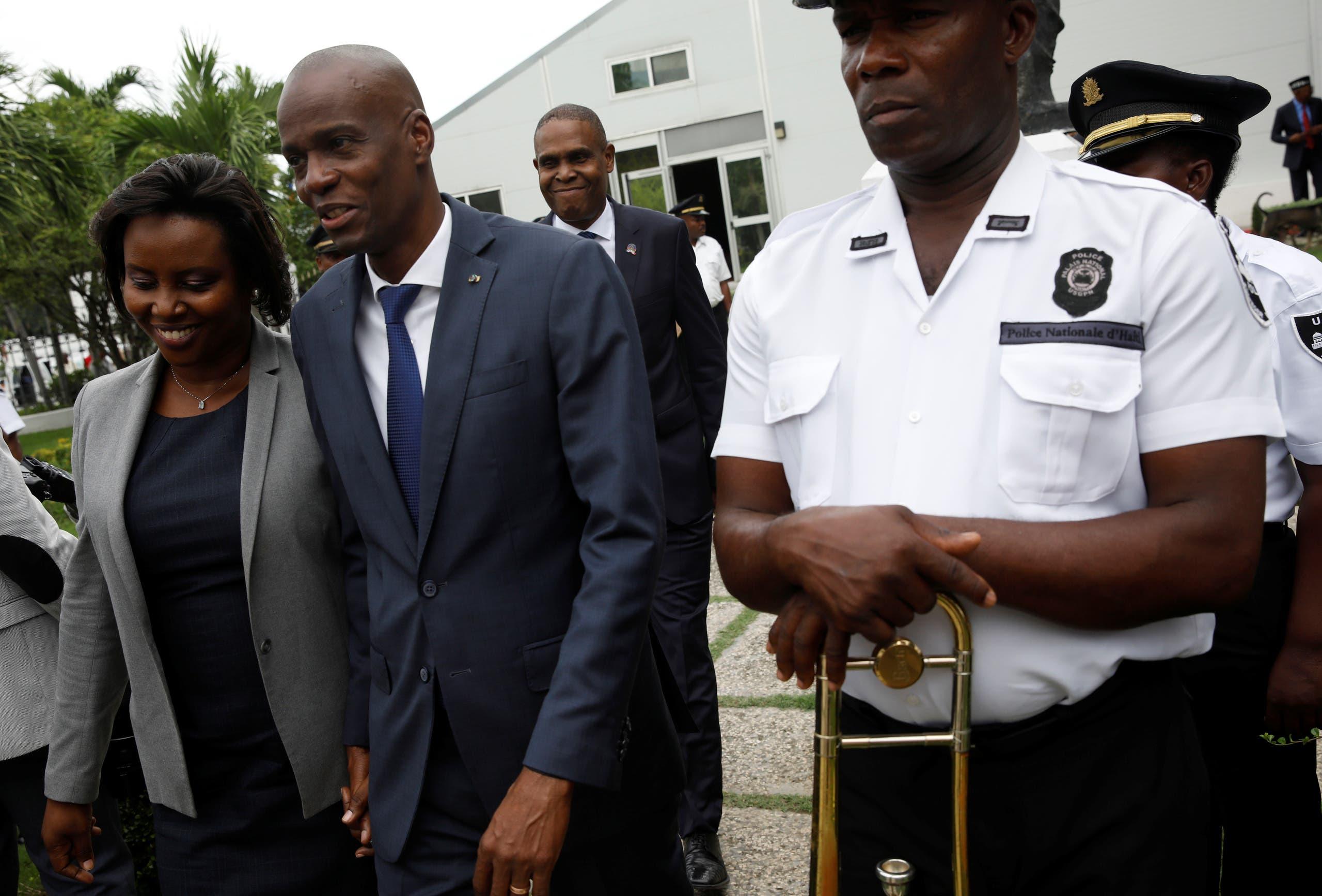رئيس هايتي جوفينيل مويز وزوجته (أرشيفية)