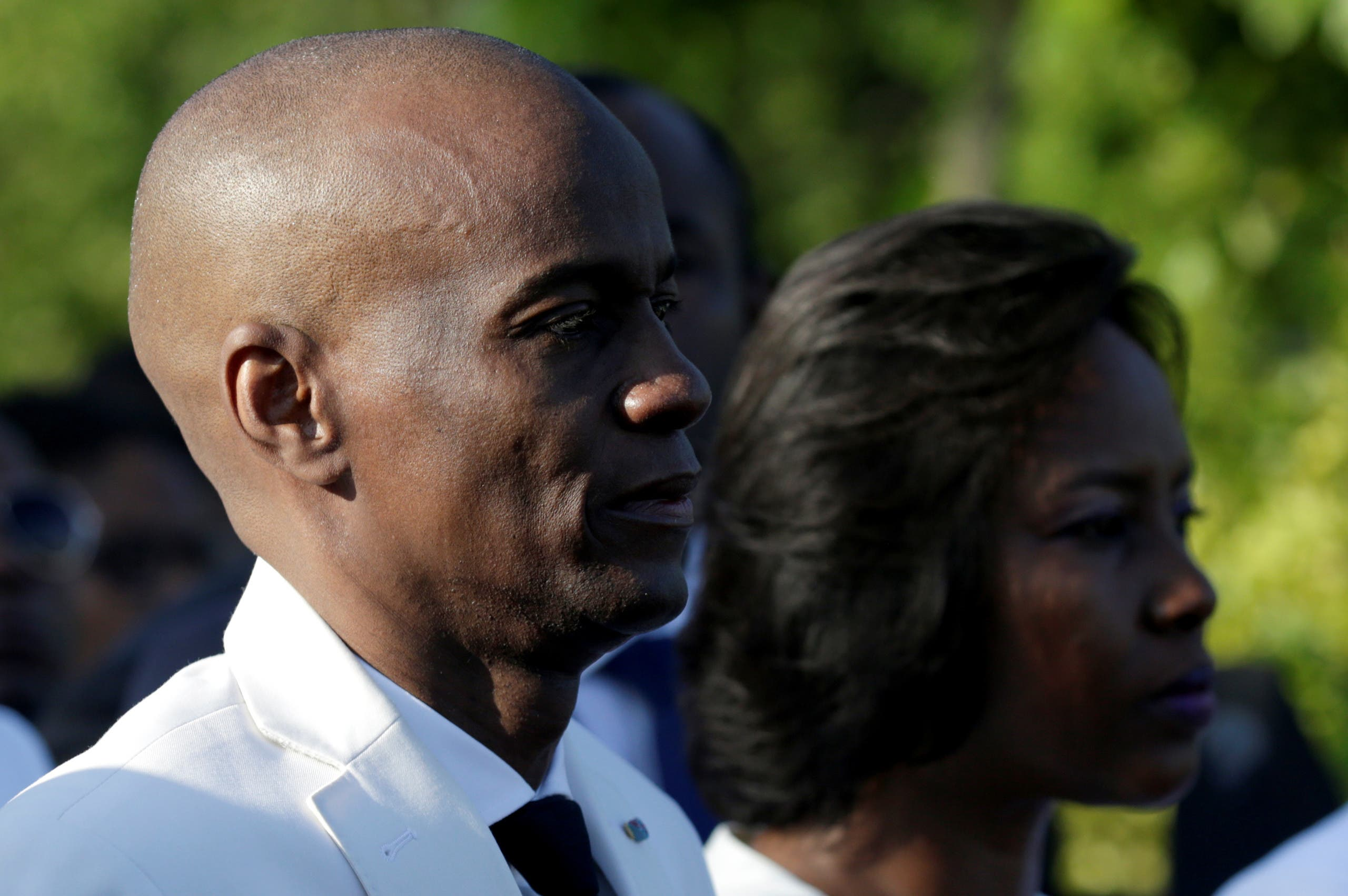 Haiti's President Jovenel Moise and first lady Martine attend a ceremony at a memorial for the tenth anniversary of the January 12, 2010 earthquake, in Titanyen, Haiti, January 12, 2020. (Reuters)
