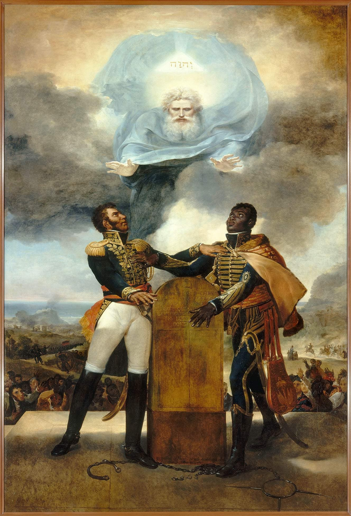 لوحة تجسد وحدة كل من ديسالين وبيتيون أثناء حرب الاستقلال
