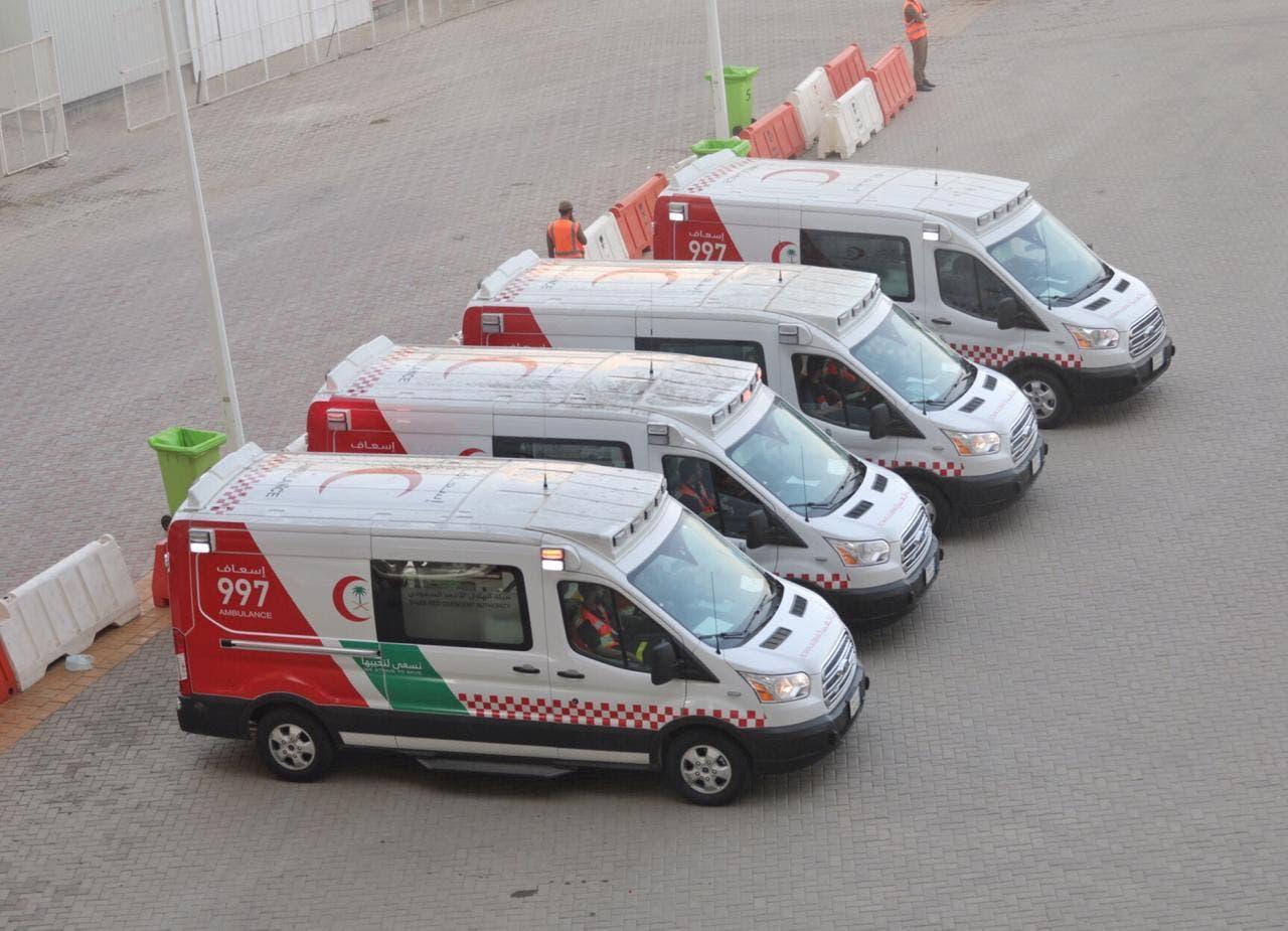 سيارات الهلال الأحمر في الحج
