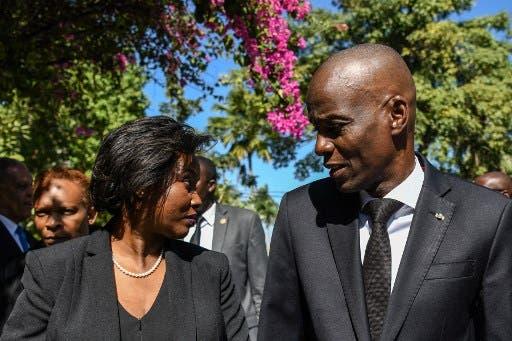 رئيس هايتي القتيل وزوجته - فرانس برس