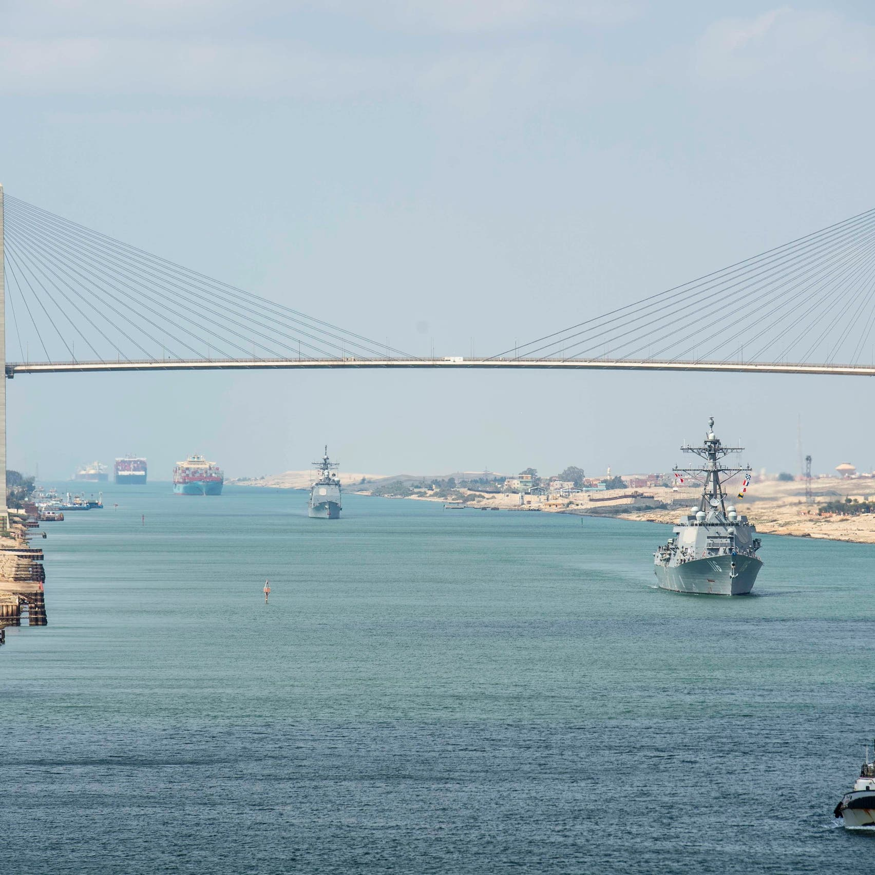 قناة السويس تعلن عبور أعلى معدل يومي من السفن في تاريخها
