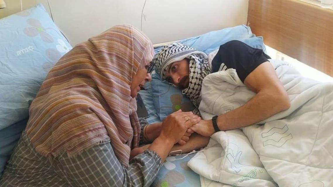 Ghadanfar Abu Atwan was on a hunger strike for 67 days. (Twitter)