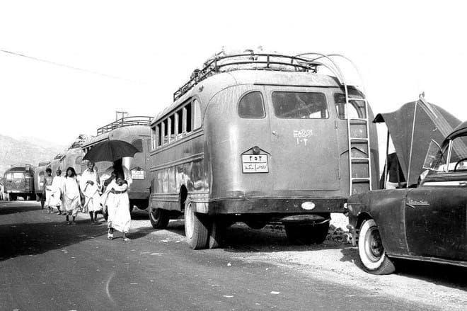 هذه أول حافلة لنقل الحجاج