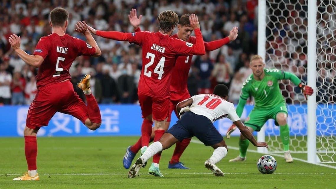 پنالتی انگلستان و دانمارک