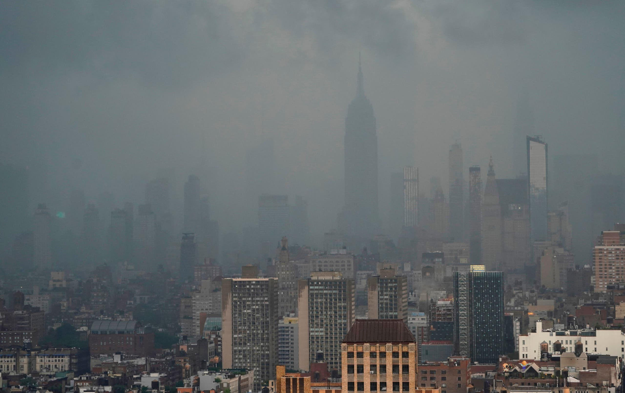 Rain covers the Empire State Building in New York July 8, 2012 as Tropical Storm Elsa moves up the Northeast with heavy rain and flash flood warnings. (File photo: AFP)