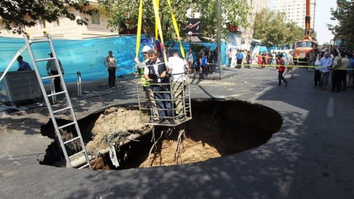 فرونشست زمین در تهران