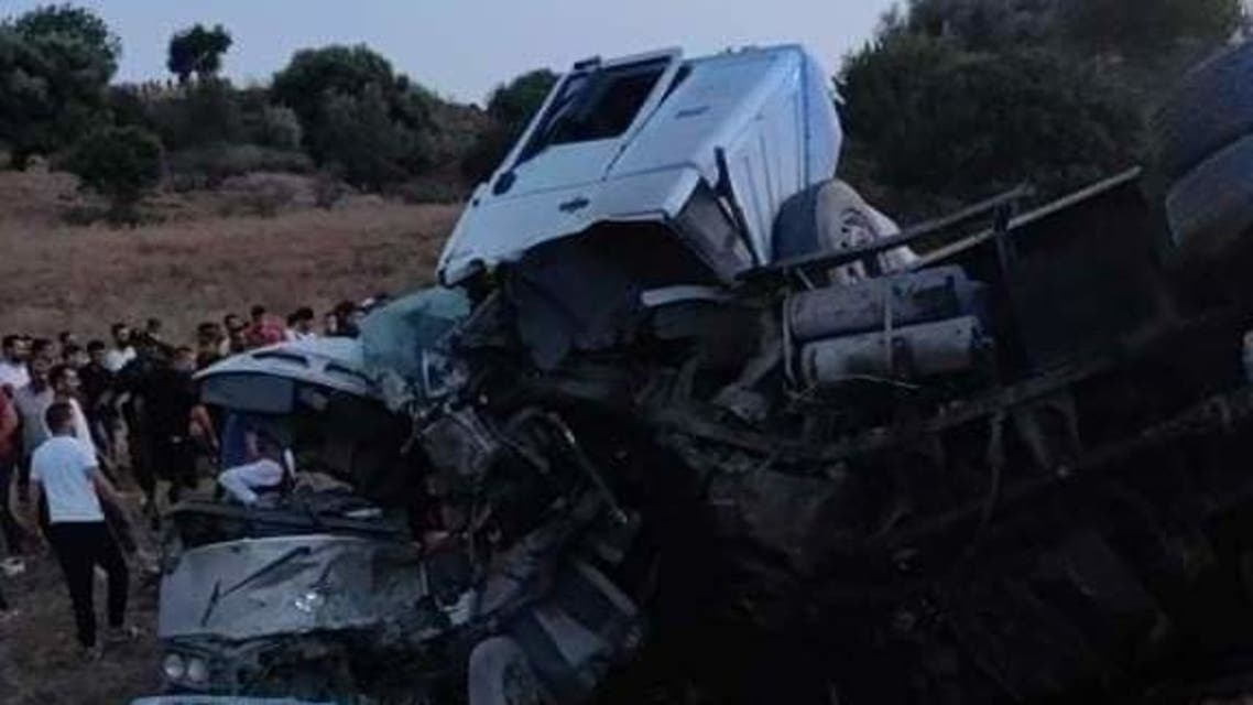 A road accident in Algiers, Algeria that killed at least 27. (Supplied)