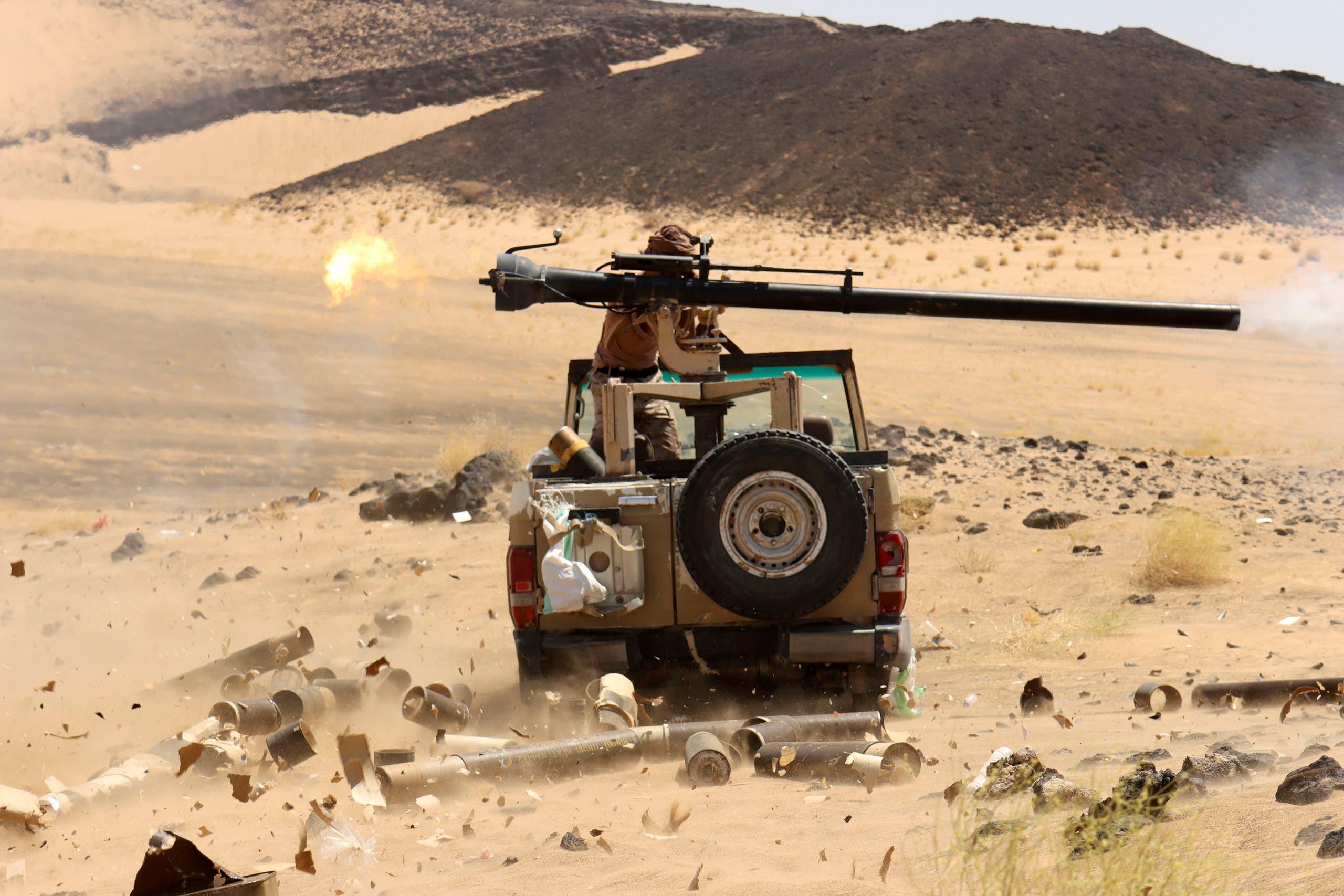 قوات الجيش اليمني في مأرب (رويترز)
