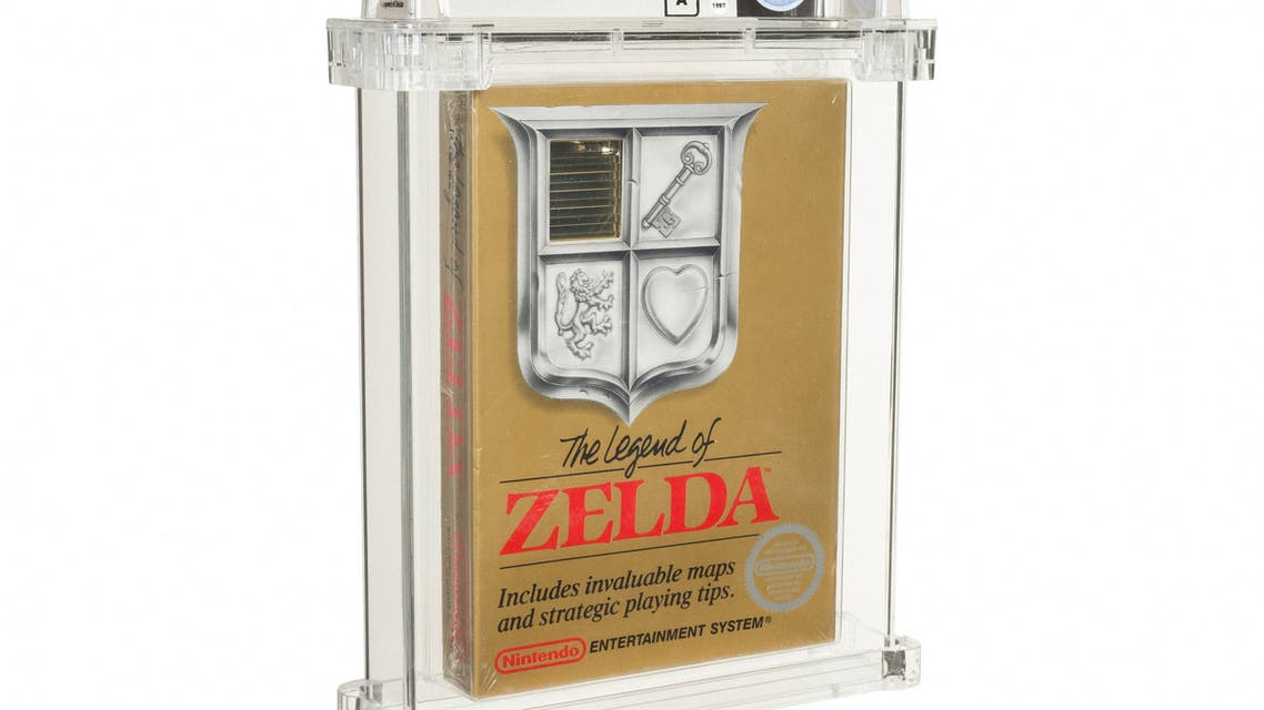 This undated handout photo released by Heritage Auctions on July 9, 2021 shows a sealed copy of the Nintendo NES game 'The Legend of Zelda'. (AFP)