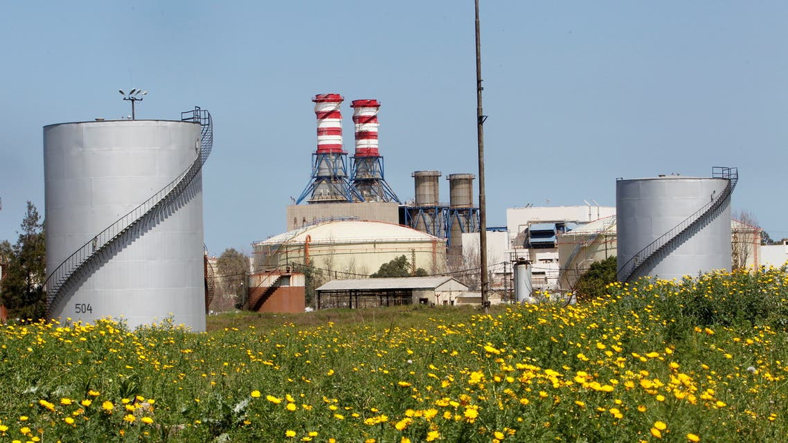 A view of the Zahrani Power plant, in Zahrani, Lebanon March 29, 2021. (Reuters)