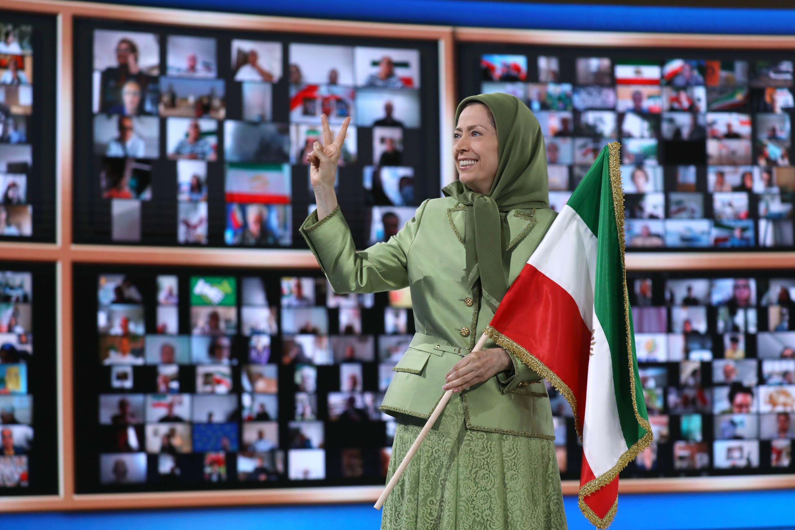 مریم رجوی در اجلاس ایران آزاد
