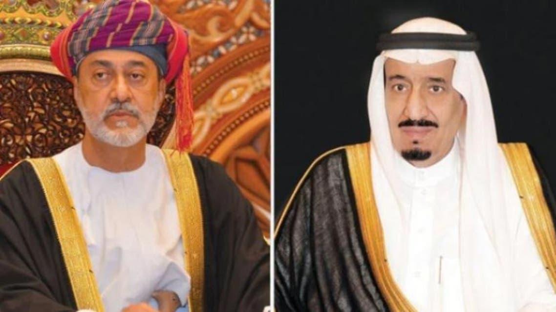 الملك سلمان بن عبد العزيز، والسلطان هيثم بن طارق