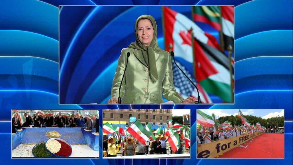 رجوي في المؤتمر السنوي للمجلس الوطني للمقاومة الإيرانية