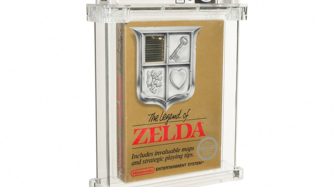 This undated handout photo released by Heritage Auctions on July 9, 2021 shows a sealed copy of the Nintendo NES game 'The Legend of Zelda'. The Nintendo NES cartridge video game was auctioned for the 'record' sum of 870,000 US dollars(732,000 euros) on July 9, auction house Heritage Auctions announced in a statement.