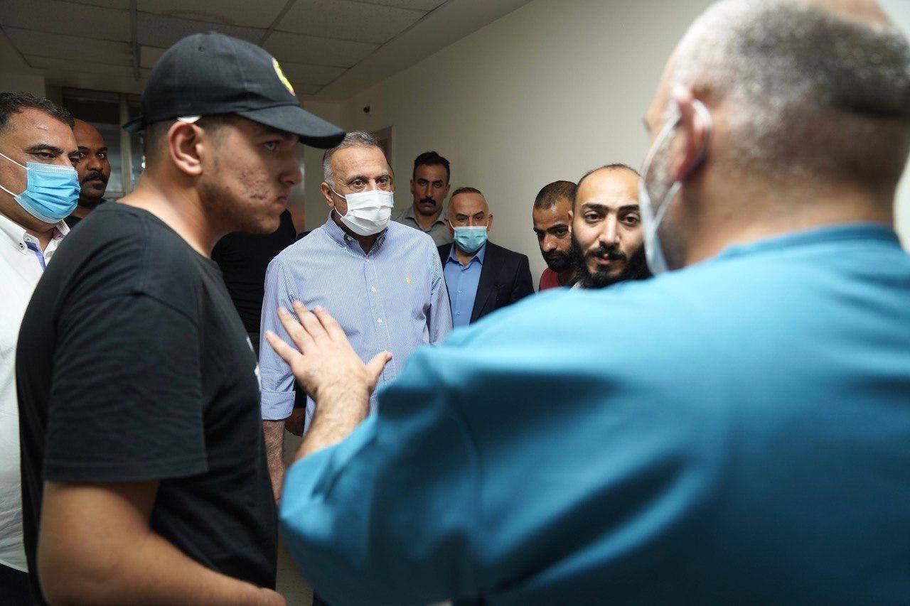 الكاظمى هنگام دیدار از علی المکدام