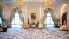 نشست پادشاه سعودی و ولیعهدش با سلطان عمان در شهر نیوم