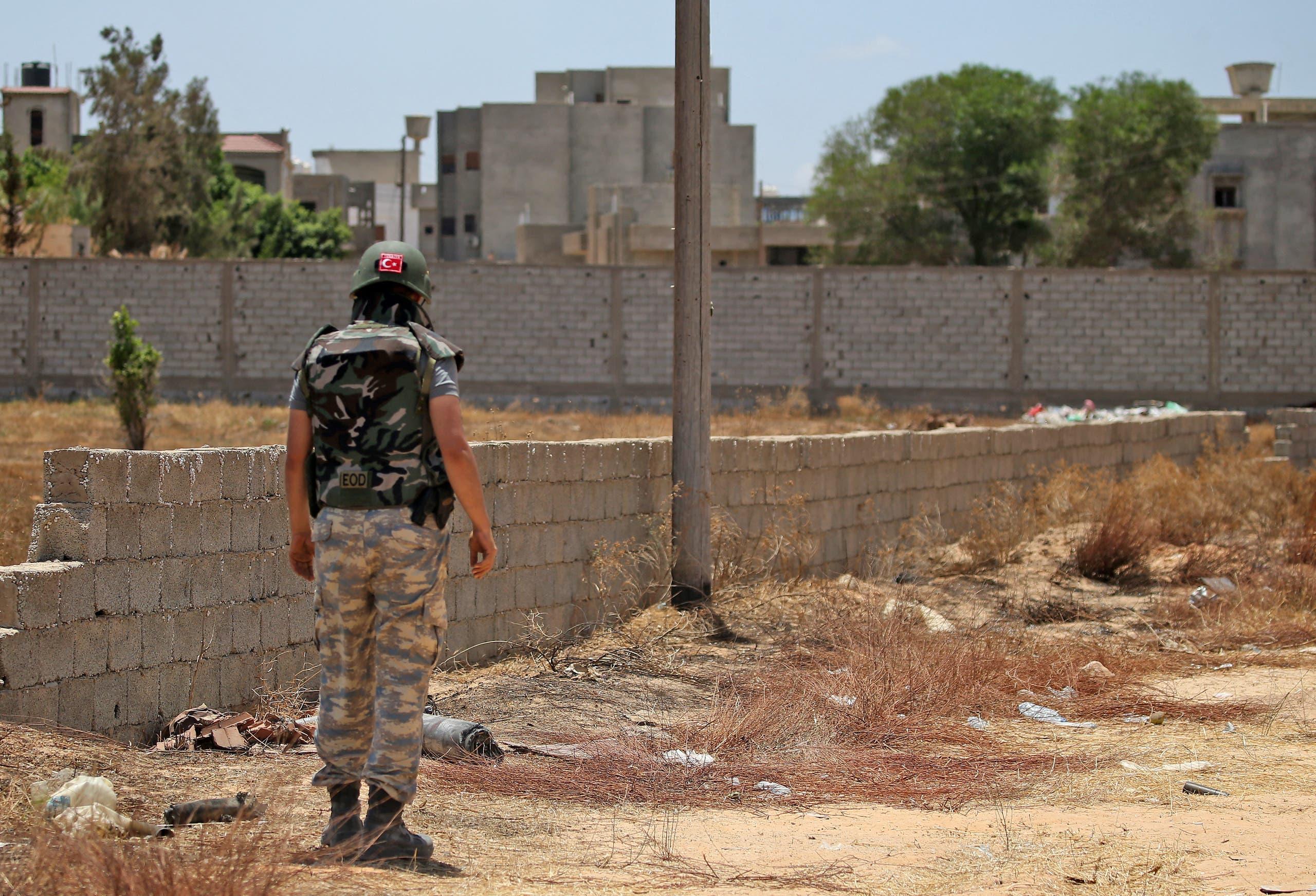 جندي تركي في ليبيا (أرشيفية)