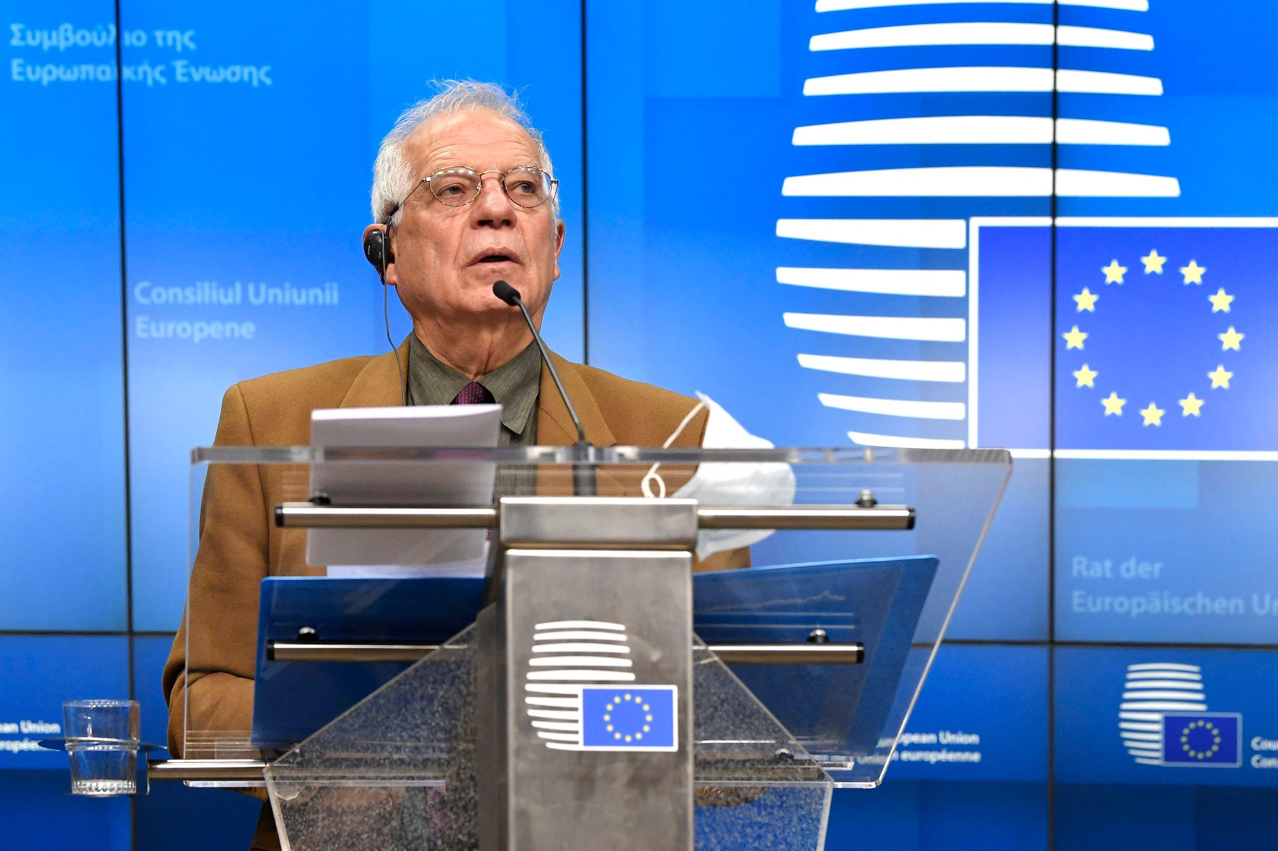 مفوض السياسة الخارجية في الاتحاد الأوروبي جوزيب بوريل (أرشيفية)