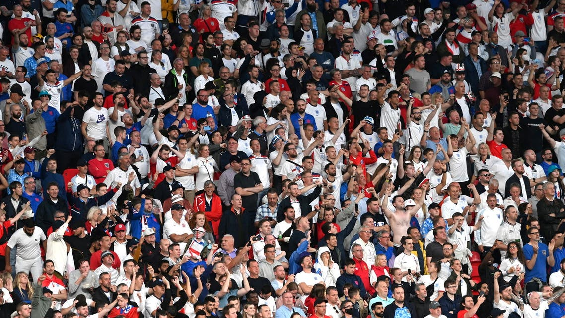 Soccer Football - Euro 2020 - Final - Italy v England - Wembley Stadium, London, Britain - July 11, 2021 England fans inside the stadium during the match. (File photo: Reuters)