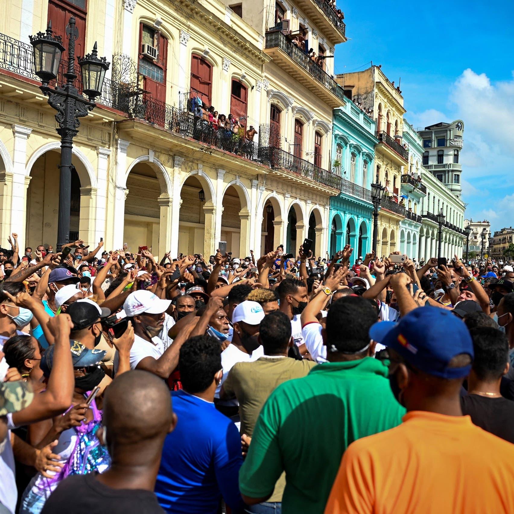 مظاهرات في كوبا.. وبايدن يطالب النظام بالاستماع لشعبه