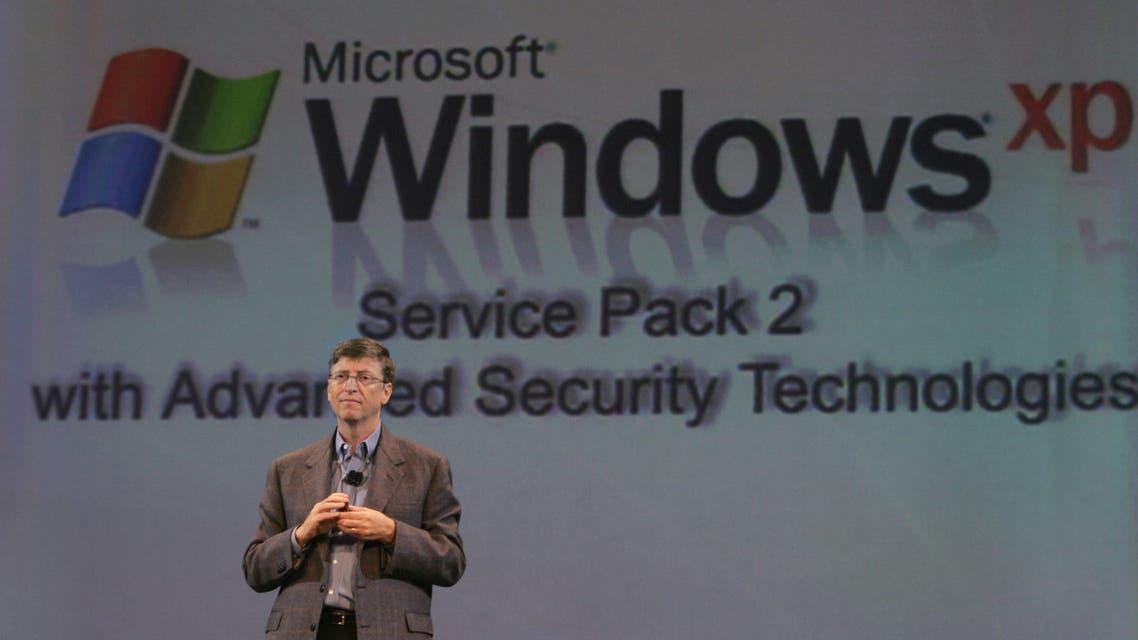 بيل غيتس عن إصدار جديد من متصفح مايكروسوفت إنترنت إكسبلورر لنظام التشغيل Windows XP(أرشيفية من رويترز)