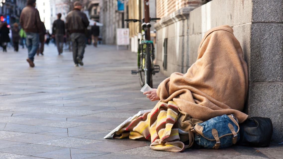 ظاهرة التسول في شوارع مدريد