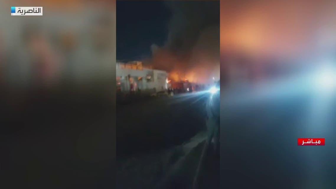 مراسل العربية: السلطات العراقية تجلي المرضى من مستشفى الحسين بالناصرية