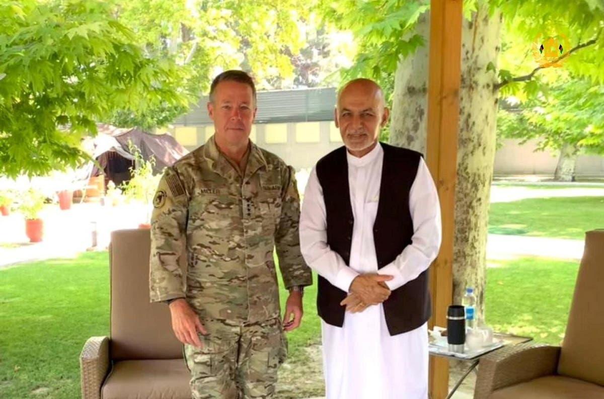 أشرف غني يقابل قائد قوات الناتو في كابل في 2 يوليو الماضي