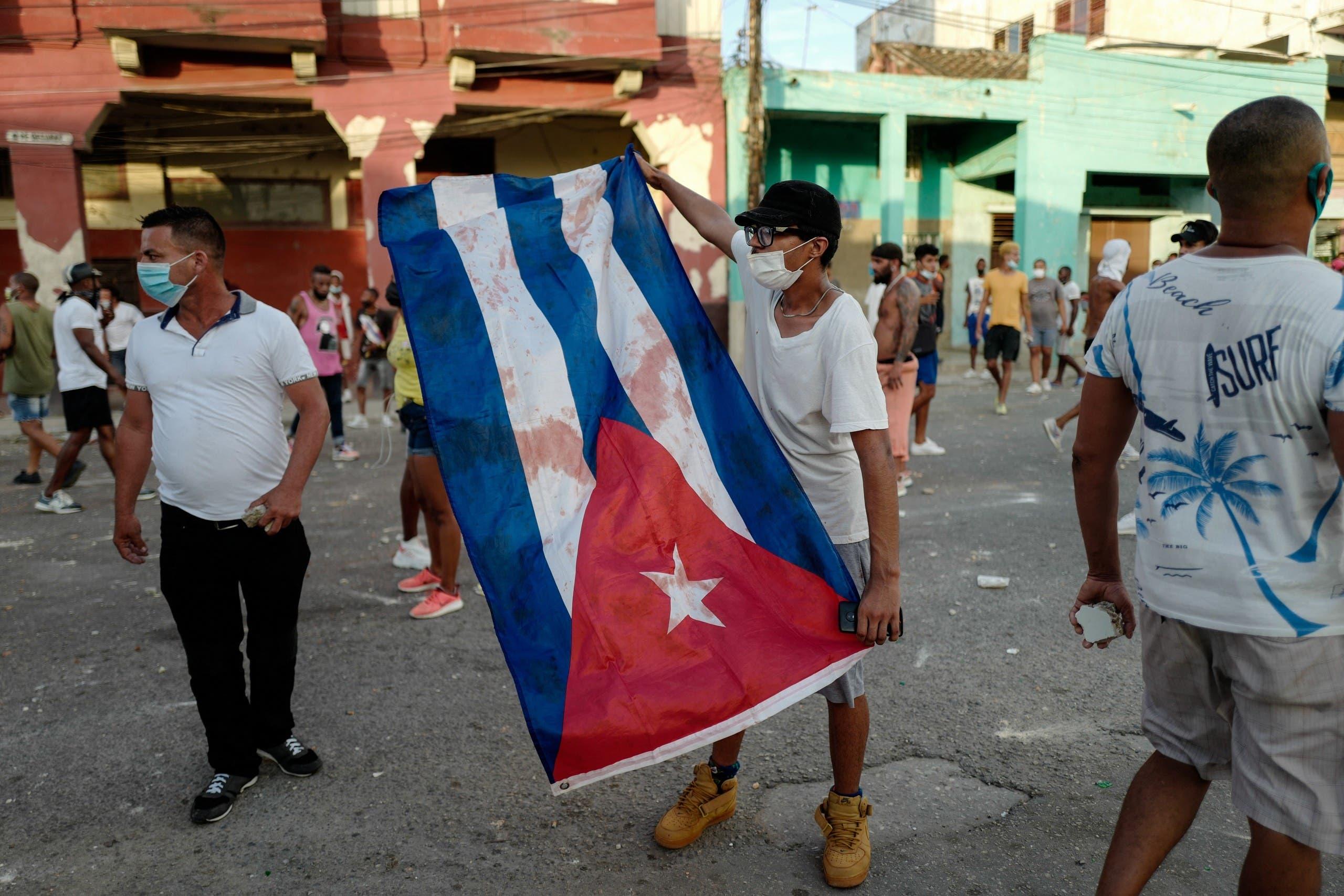 من مظاهرة الأحد في هافانا