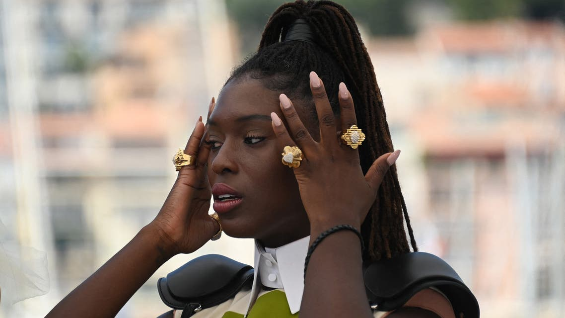 British actress Jodie Turner-Smith poses during a photocall for the film After Yang as part of the Un Certain Regard selection at the 74th edition of the Cannes Film Festival, southern France, on July 8, 2021.