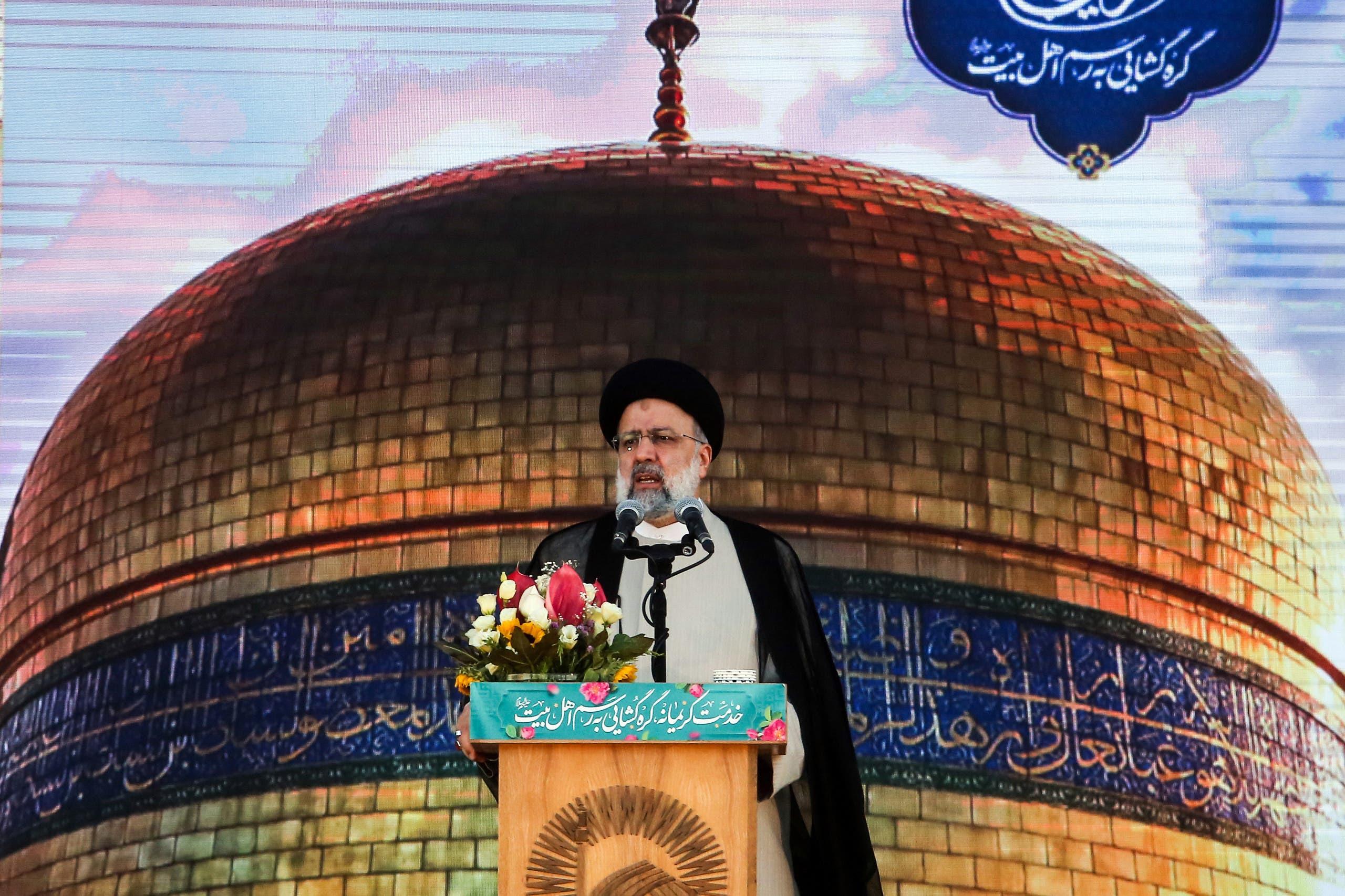 رئيسي خلال خطاب في مشهد في 22 يونيو الماضي