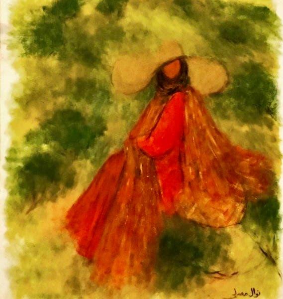 A painting by Saudi Arabian artist Nawal Mustafa Mosalli. (Supplied)