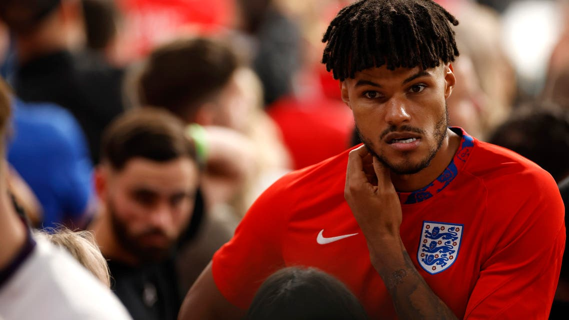Soccer Football - Euro 2020 - Final - Italy v England - Wembley Stadium, London, Britain - July 11, 2021 England's Tyrone Mings looks dejected after the match Pool via REUTERS/John Sibley