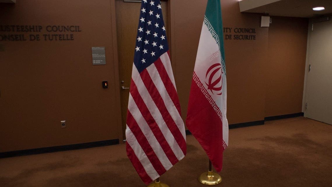 The US and Iranian flags, April 19, 2016, at the United Nations in New York. (AFP)