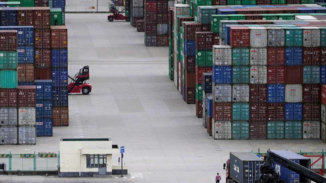 Containers are seen at the Yangshan Deep-Water Port in Shanghai, China October 19, 2020. (File Photo: Reuters)
