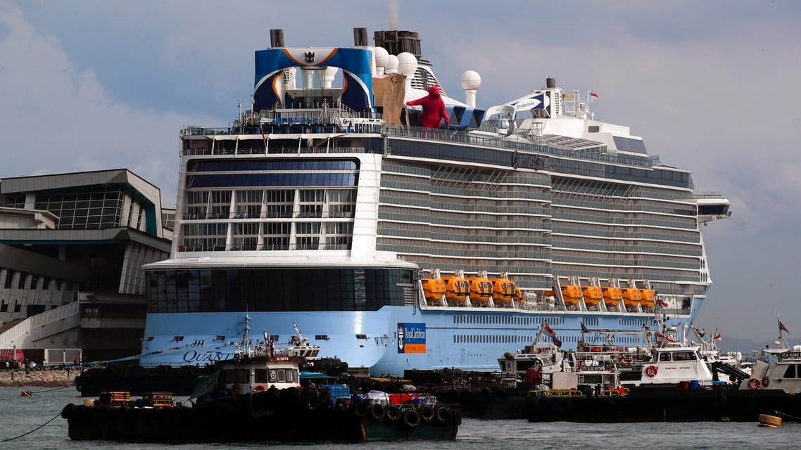 Royal Caribbean's Quantum of the Seas cruise ship is moored at Marina Bay Cruise Center after a passenger tested positive for coronavirus disease (COVID-19) during a cruise to nowhere, in Singapore, December 9, 2020. (File photo: Reuters)