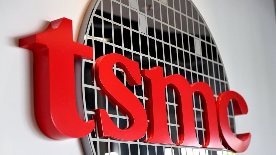 The logo of Taiwan Semiconductor Manufacturing Co (TSMC) is pictured at its headquarters, in Hsinchu, Taiwan. (Reuters)